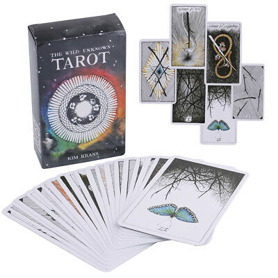78pcs the Wild Unknown Tarot Deck Rider-Waite Oracle Set Fortune Telling Card ^P