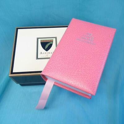 Aspinal of London - The Little Oxford Dictionary - Pink Hand Bound Leather Cover