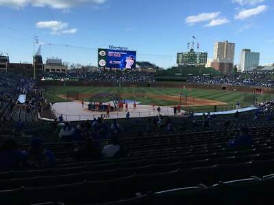 2) Chicago Cubs vs. Nationals 8/24/19 Wrigley Field-behind home plate- sec 220