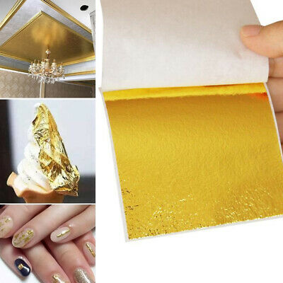 Art Craft Design Paper Imitation Gold Copper Leaf Leaves Sheets Foil Gilding DIY