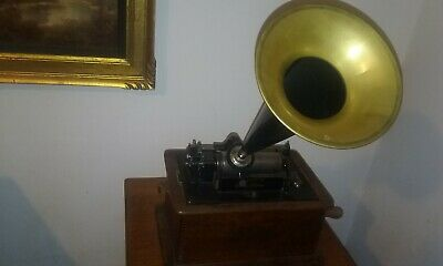 Edison Standard Cylinder Phonograph with 2+4 Minute Gearing
