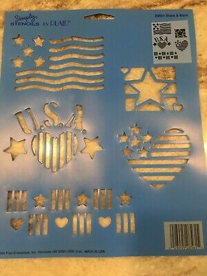 Simply Stencils By Plaid 28561 Stars And Bars Wall Craft Stencil