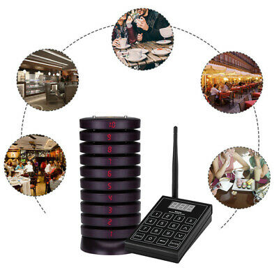 SU-680 Wireless Queuing Paging Equipments Cafe Bakery Restaurant + 20pcs Pagers