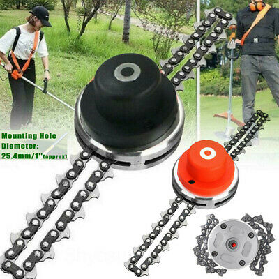 2 Types 65Mn Trimmer Head Coil Chain Brush Cutter Trimmer Grass For Lawn