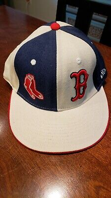 BOSTON RED SOX New Era 59Fifty Baseball Cap 7 1/2 Authentic MLB Embroidered Cap