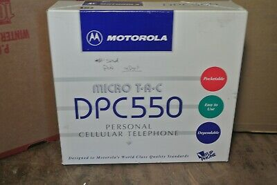 Vintage Motorola Micro TAC DPC550 Personal Cellular Phone, Original Box & More