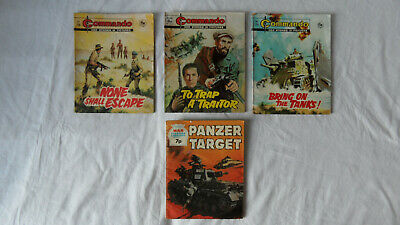 Vintage Commando (729, 756 & 894) and War Picture Library (971) Magazines