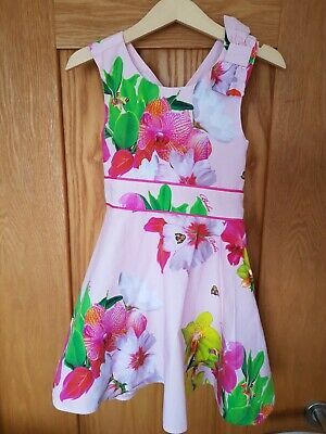 Ted Baker Girls Lined  Summer Dress Age 3-4