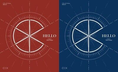 CIX HELLO CHAPTER 1. HELLO, STRANGER 1st EP Album (2Ver Set) CD+Book+Card+K-POP