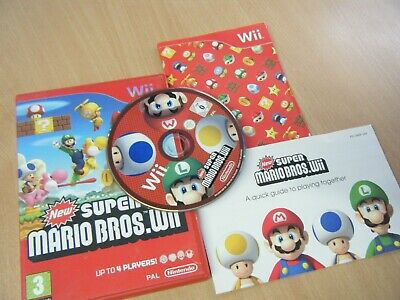 New Super Mario Bros.wii Nintendo Wii Game Complete With Manual And Mini Guide
