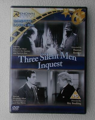 Three Silent Men / Inquest ~ Renown Pictures RARE UK DVD ~ Brand New & Sealed