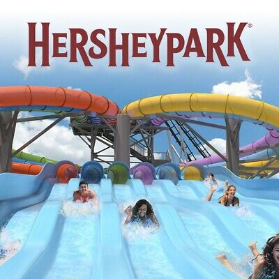 Hershey Park One Day Admission Tickets with preview plan-exp 9/29/19- FREE SHIP