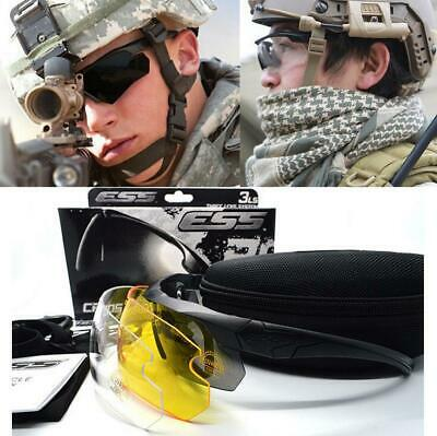 ESS CROSSBOW Polarized Military Goggles 3 Lens Ballistic Army Sunglasses