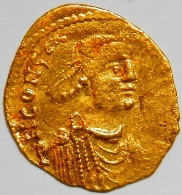 Byzantine Empire Constans II. tremissis aXF (Sear:984) [1.45 grams]