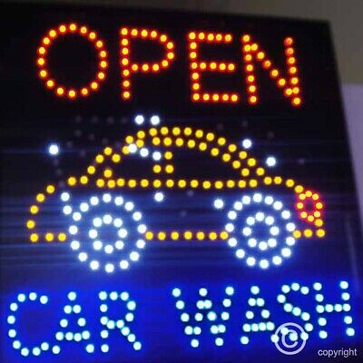 Flashing open car wash led new window Shop signs