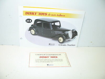 DINKY TOYS 24N CITROEN TRACTION 11BL jante fonçé reprobox boite refabrication