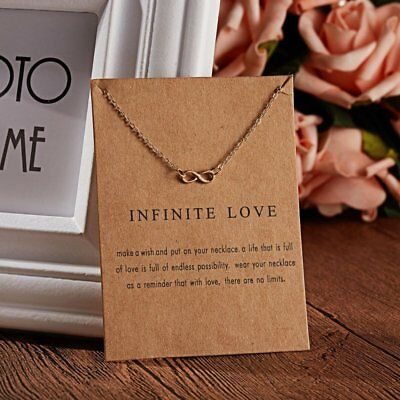 Simple Infinite love Women Gold Choker Necklace Pendant Charm Jewelry Gift