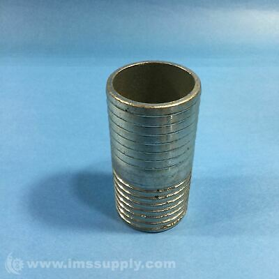 """2"""" Male To Male Steel Barbed Coupler Usip"""