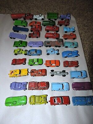 Huge Vintage 1960s Jam Pac Tootsietoy Die Cast Toy Vehicle 40 Piece Lot