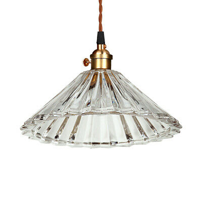 Modern Glass Pendant Light Antique Brass Ceiling Hanging Fixture Kitchen Lamp
