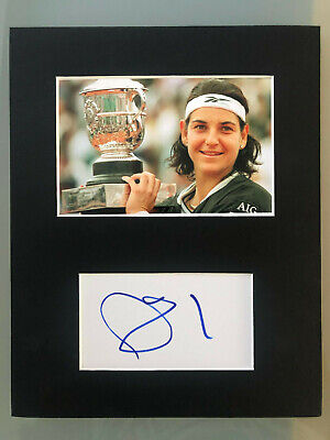 Tennis Star Arantxa Sanchez Vicario AUTOGRAPHED photo mount-See signing proof