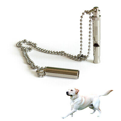 Accessories Pet Training Recall Dog Whistle Chain Adjustable Pitch Ultrasonic