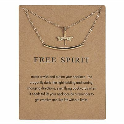 Fashion Simple Gold Dragonrfly Charms Pendant Necklace Womens Jewellery Gifts