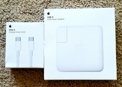 Apple 87w USB-C Power Adapter MNF82LL/A & 2m USB-C Charge Cable *NEW*