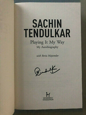 Cricket Legend Sachin Tendulkar rare AUTOGRAPHED book - See photo signing proof