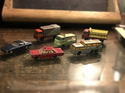 Lot of 6 LESNEY MATCHBOX Made in England 1960s Vintage Cars Diecast Collection