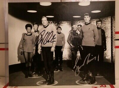 WILLIAM SHATNER & Leonard Nimoy Spock & Kirk Autographed Signed STAR TREK Photo