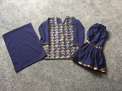 Kids Girls salwar Kameez Trousers Sharara Suit Size 24 5-6 Sari lengha designer