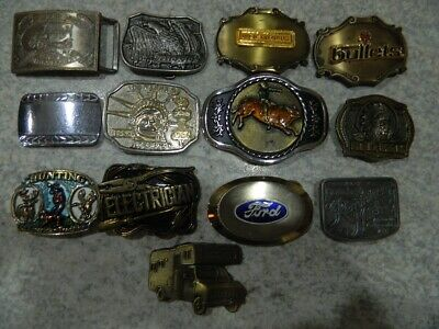 VINTAGE belt buckle LOT of 13 buckles (Lot A)