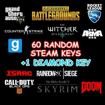 60x random steam key + 1 diamond key with high value fast delivery 🔑+Gift 🔑