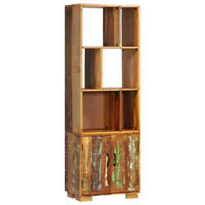Vintage Free Standing Display Cabinet Unit Antique Wooden Large Tall Bookcase