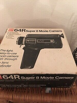GAF 64R Super 8 cine Camera, Untested But Never Used Boxed