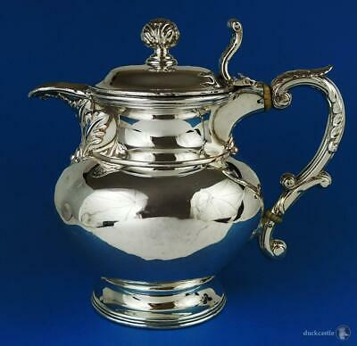 Decorative GEORGE IV OLD SHEFFIELD PLATE WINE JUG / PITCHER c1825 Some Dings