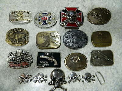VINTAGE belt buckle LOT of 13 buckles (Lot B)