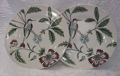 """NWT ~ Set of 2 LENOX AERIN Cottage Terrace 9.25"""" Accent or Luncheon Plates"""