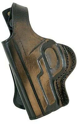 TAGUA black leather holster cross draw LH OWB fits Sig Sauer P228 P229 no rail