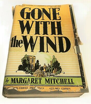 Gone With the Wind Margaret Mitchell November 1936 printing of 1st edition