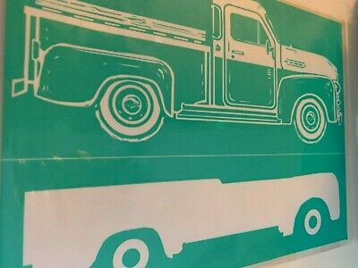 Chalk Couture Transfer, Vintage Truck