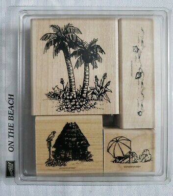 Stampin' Up On The Beach Tropical Travel Hawaii Rubber Stamps