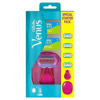 Gillette Venus Snap Women's Razor Blades Handle Travel Portable  - 4 Blades