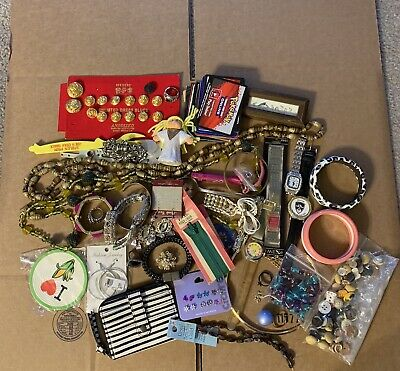 Misc Junk Drawer. Jewelry. Pokemon. Buttons. Rings And Watches