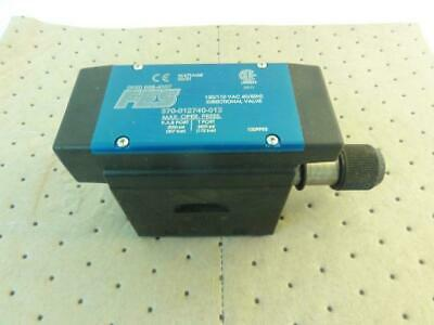 173356 Old-Stock, FES 370-012740-012 Directional Valve, 120/110VAC, 3000/2500PSI