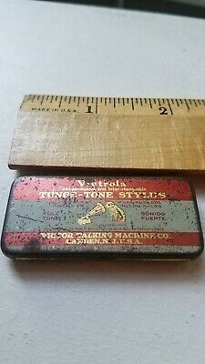 VICTROLA TUNGS-TONE PHONOGRAPH STYLUS TIN WITH 4 NEEDLES Victor Machine Co.