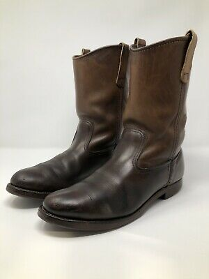 f1fb6b5209f VINTAGE RED WING Shoes Pecos 1177 (9 C) Leather Cowboy Pull On Boots Roper