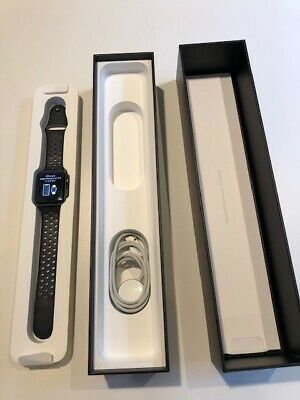 Apple Watch Nike+ 42mm Space Gray Aluminum Case Sport Band -...