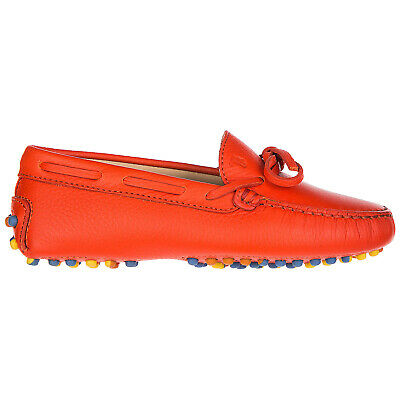 Tod's Boys Shoes Baby Child Loafers Moccassins Leather New Laccetto Gommini  C7F